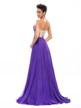 Strapless Floral Printed Beading Long Prom Dress