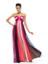 A-Line Sweetheart Sashes Contrast Color Prom Dress