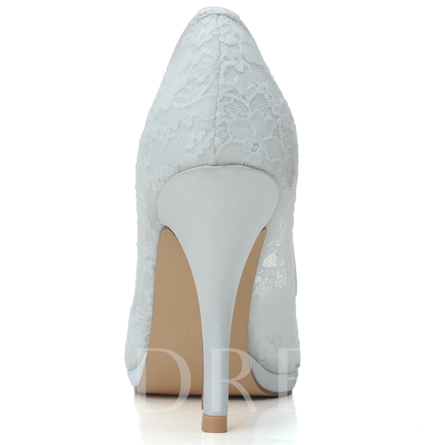 Lace Pure Color Wedding Shoes