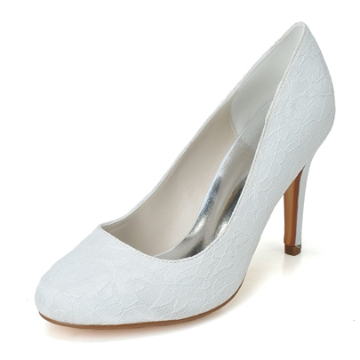 Lace Stiletto Heel Wedding Shoes
