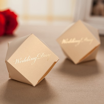 Daffodil Wedding Favor Boxes