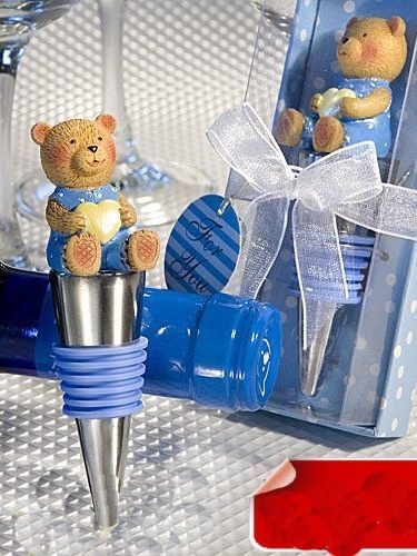 Blue Bear Bottle Stoppers