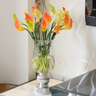 Silvering Glass Vases