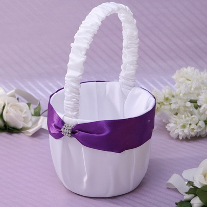 Flower Basket With Rhinestones