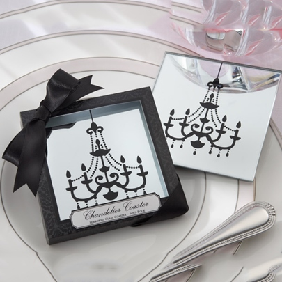 Adorable Wedding Favor Mirror Droplight Cup Mat