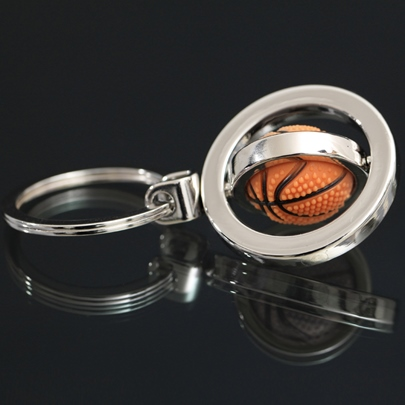Creative rotating basketball Keychain