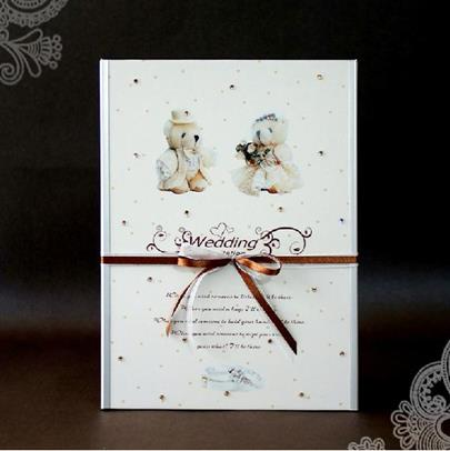 Creative Couple Teddy Bear Wedding Guest Book