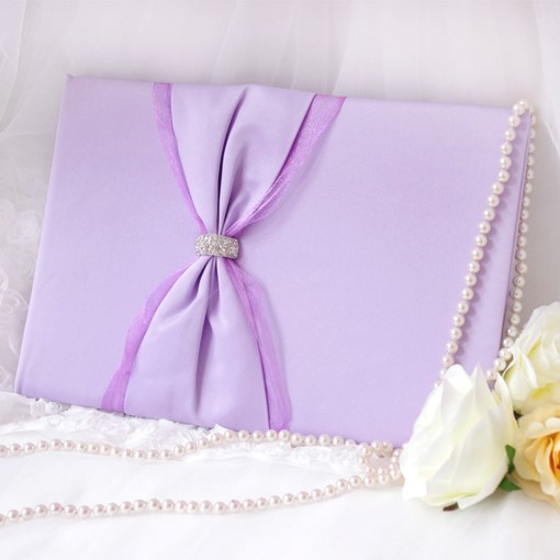 Aesthetic Lilac Wedding Guest Book