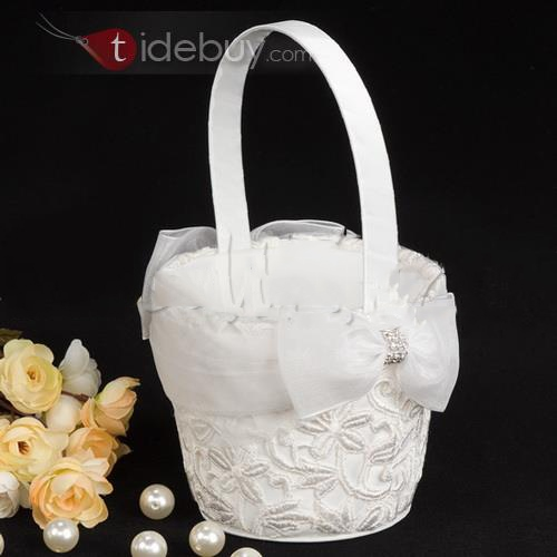 Flower Basket With Embroidery