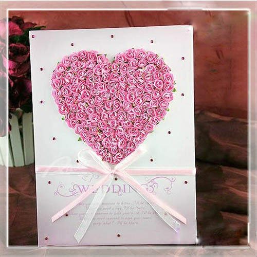 Heart-Sharp Rose Wedding Guest Book