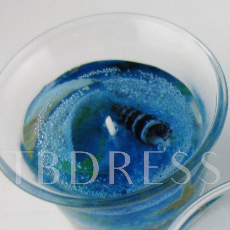 Mediterranean Jelly Cup Candle ( Include Three Candle )