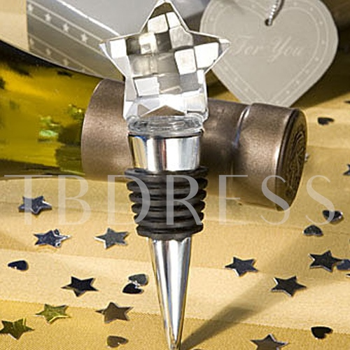 Rhinestone Star Top Bottle Stoppers