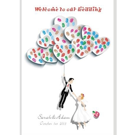 New Couple Wedding Thumbprint Tree Guest Signature Frames