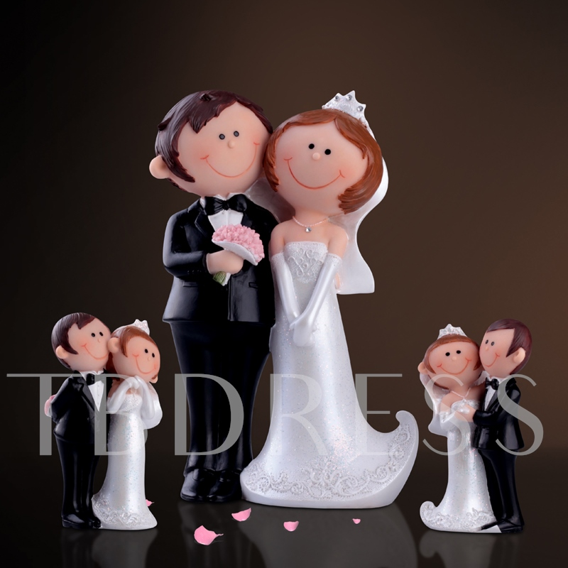 Bride And Groom Cake Topper(3 pieces)