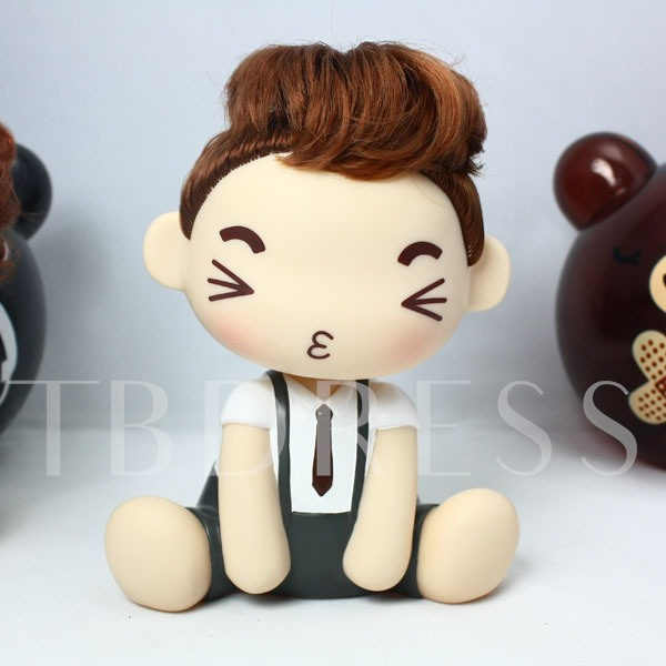 Creative Shaking Head Moss Doll Money Box