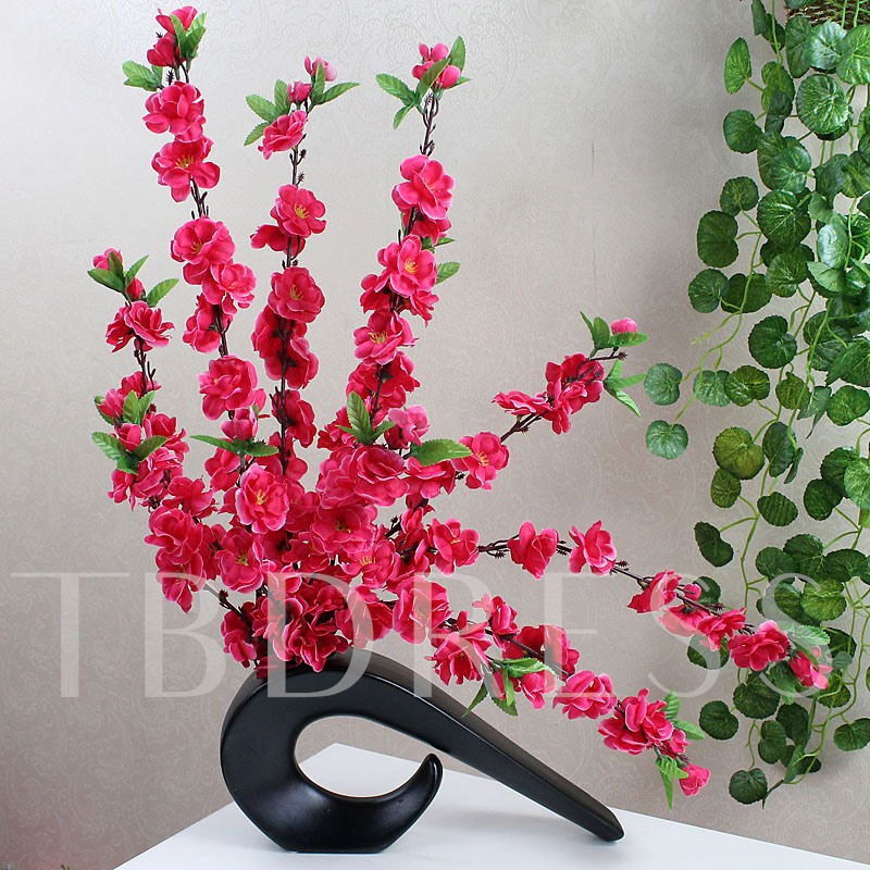 Simulation Flowers Set Series Desktop Decoration Potted Peach Blossom