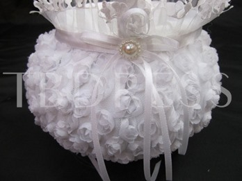 With Ribbons Wedding Flower Basket