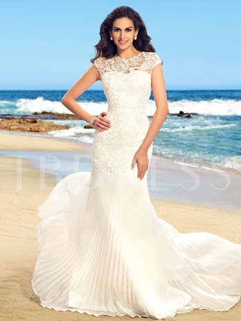 Beading Lace Mermaid Wedding dress