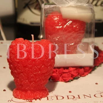 Rose Heart Wedding Candle