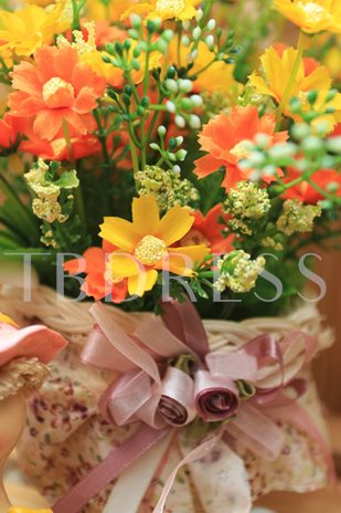 European small tricycle With Yellow Flowers Table Centerpieces