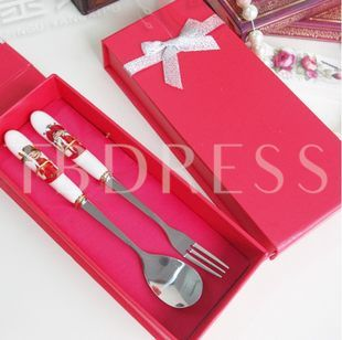 China Red Stainless Steel Serving Sets