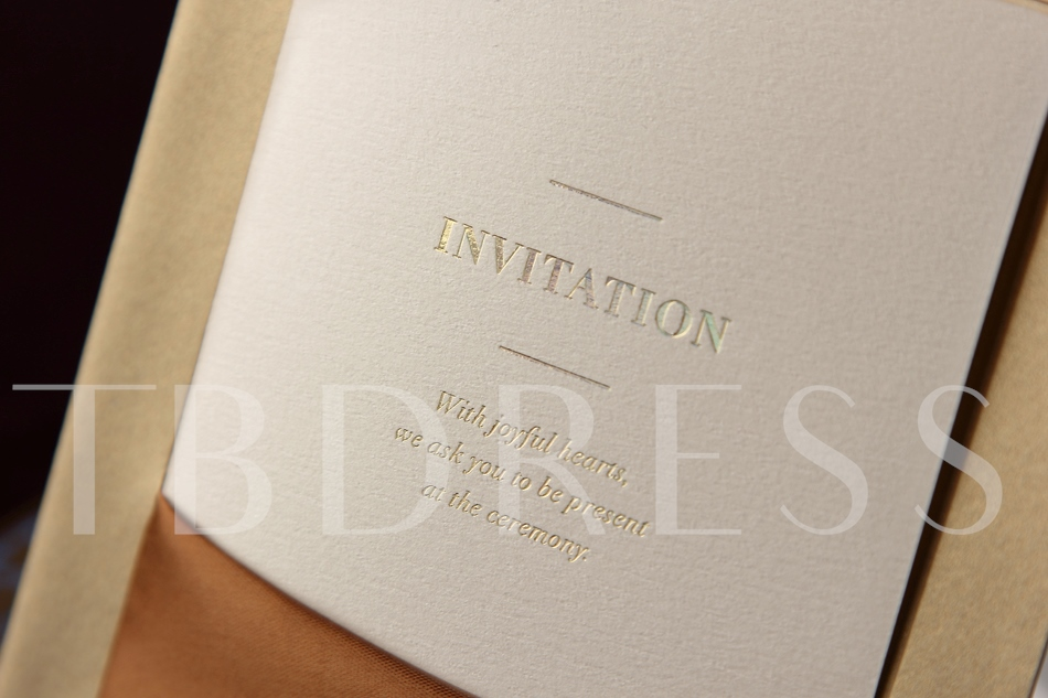 Style Flat Card Invitation Cards With Ribbons (20 Pieces One Set)