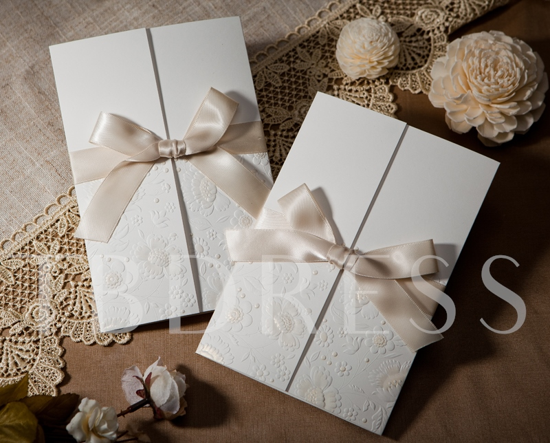 Side Fold Style Wrap & Pocket Invitation Cards (20 Pieces One Set)