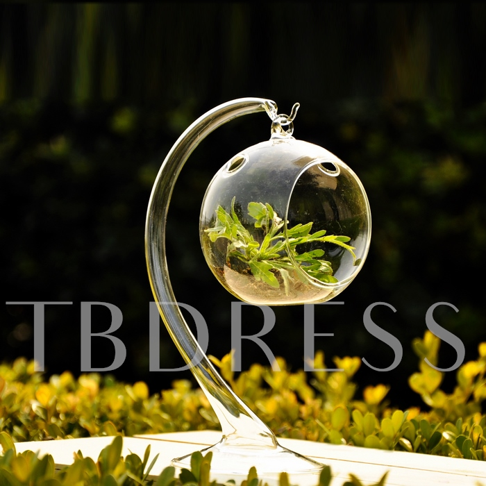 Hanging Spherical Glass Vases