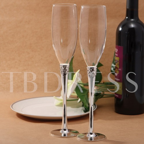 Top-Level Creative Metal Toasting Flutes(Set of 2)
