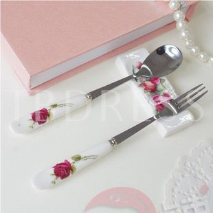 China Pink Stainless Steel Serving Sets