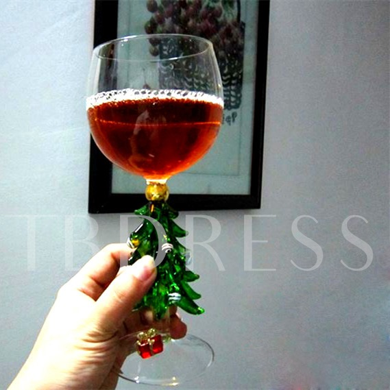Creative Xmas Tree Stem Design Toasting Flute