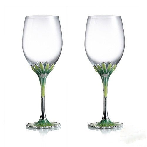 Floral Theme Toasting Flutes(Set of 2)