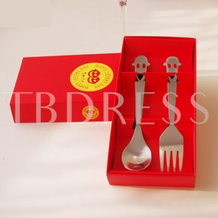 Special Stainless Steel Smile Face Serving Sets