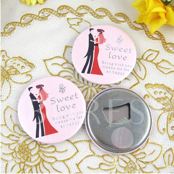 Personalize '' Love'' Round Bottle Openners