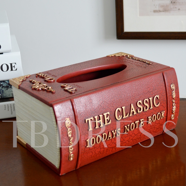 Book Shape Resin Tissue Box