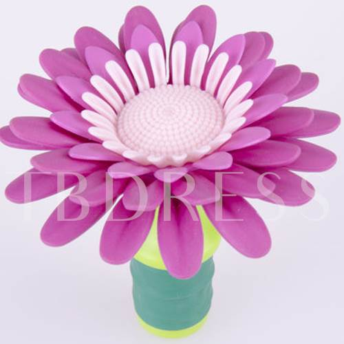 Personalize Flower Shape Bottle Stoppers