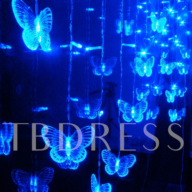 LED Two Metres Blue Butterfly Lamp