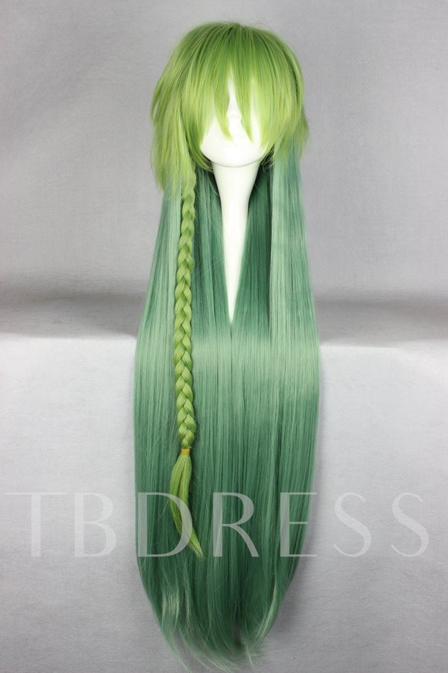 Ukyo Hairstyle Long Straight Gradient Cosplay Wig Halloween 30 Inches