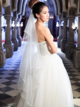 White Tulle Wedding Bride Veil