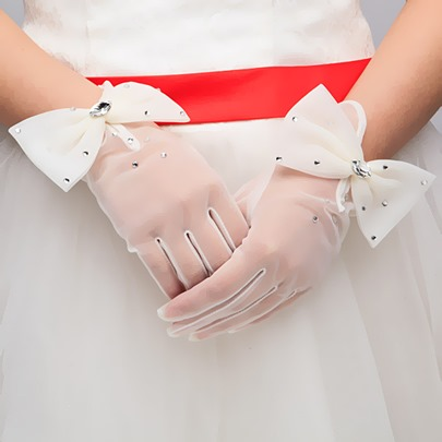 Bowknot Wedding Gloves