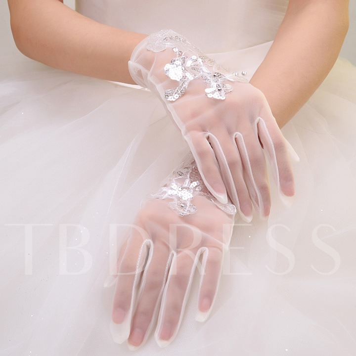 Short Wedding Gloves