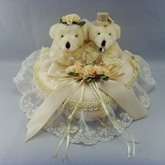 Ring Pillow With Bear Lace