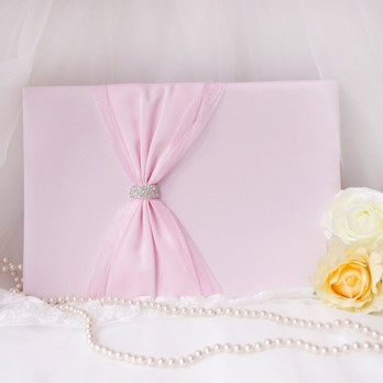 Pink Bow Wedding Guest Book