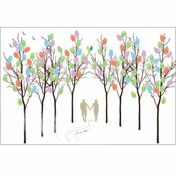 walking Hand in Hand Wedding Signature Frames