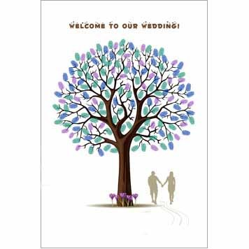 Hand in Hand Wedding Thumbprint Tree Guest Signature Frames