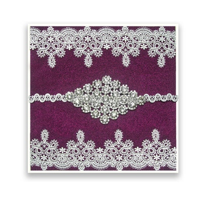 Wedding Guest Book With Lace