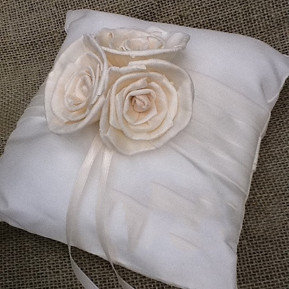 Wedding Ring Pillow With Flowers
