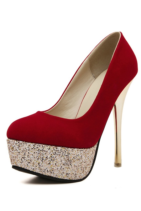 Sequins Platform Stiletto Heel Women's Pumps
