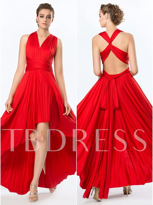 Convertible Asymmetry Evening Dress