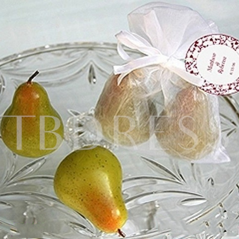Pear Wedding Candle